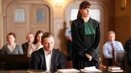 Dygant, Schejbal i Sokołowska na planie 'Prawa Agaty'5